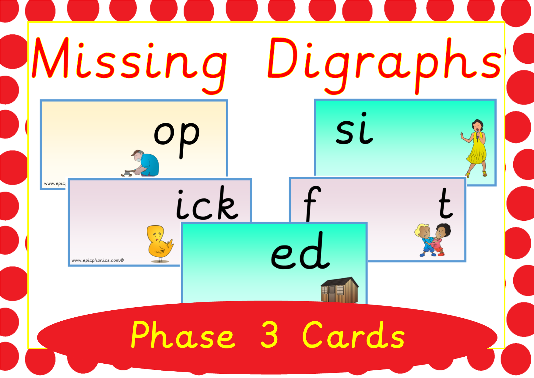 Missing Digraphs Phase 3 Activity Cards